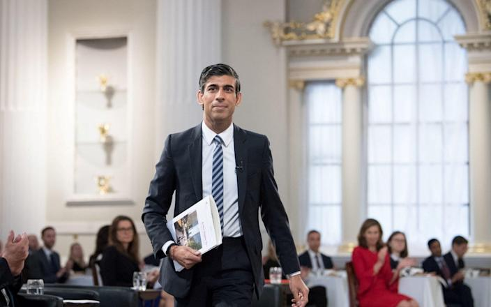 Chancellor Rishi Sunak at the Financial and Professional Services Address, previously known as the Bankers dinner, at Mansion House in London on July 1, 2021. - Stefan Rousseau/Pool/Reuters