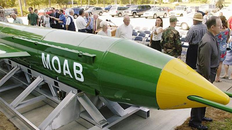 America's GBU-43/B is the largest non-nuclear bomb they have ever deployed in combat. Source: AFP