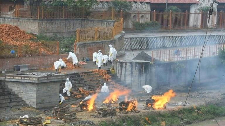 Covid victims cremated as Nepal suffers virus surge