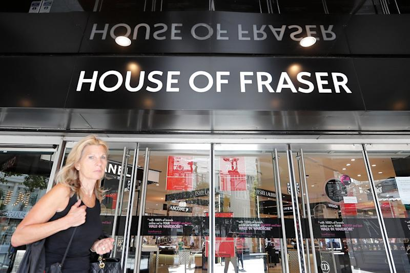 Worrying trend: House of Fraser was set to close but was rescued by Sports Direct: AP