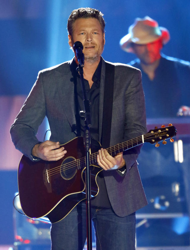 """<p>Blake Shelton performs """"Every Time I Hear that Song"""" at the CMT Music Awards at Music City Center on Wednesday, June 7, 2017, in Nashville, Tenn. (Photo by Wade Payne/Invision/AP) </p>"""