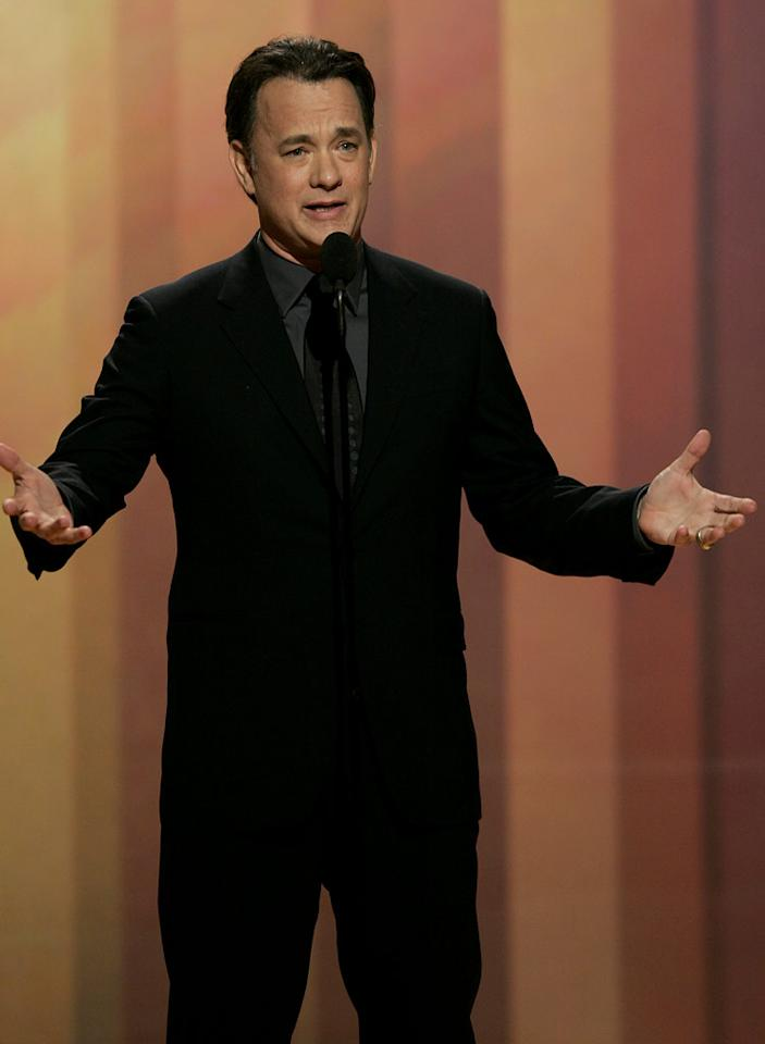"""<a href=""""/tom-hanks/contributor/29849"""">Tom Hanks</a> seems to tease the censors by repeating the word """"balls"""" an awful lot during his speech at <a href=""""/the-64th-annual-golden-globe-awards/show/40075"""">the 64th annual Golden Globe Awards</a>."""