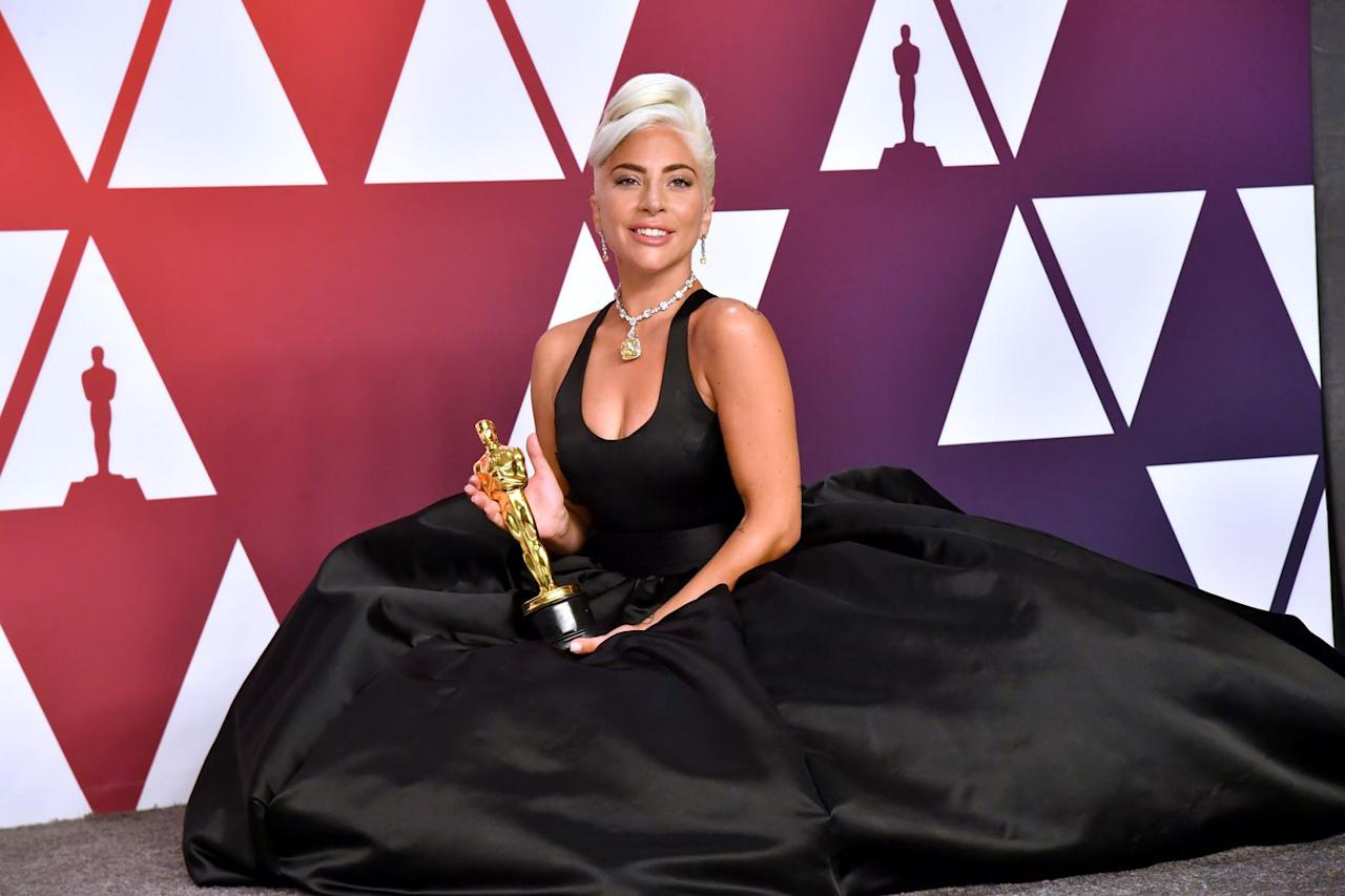 """<p>JK - this entire album should be your vision board. There really is no better note to end on than with Gaga, her brand new Oscar (<a rel=""""nofollow"""" href=""""https://www.cosmopolitan.com/entertainment/a25562222/lady-gaga-oscar-speech-2019/"""">for Best Original Song for """"Shallow""""</a>), and the train of her dress that looks like the perfect place to take a nap on as the soundtrack for <em>A Star Is Born</em> plays for the 230th time...<em></em></p>"""