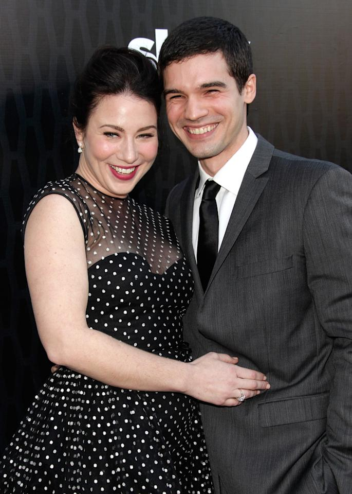"Lynn Collins and Steven Strait attend the Starz '<a target=""_blank"" href=""http://tv.yahoo.com/magic-city/show/46996"">Magic City</a>' Los Angeles Series Premiere at Directors Guild Of America on March 20, 2012 in Los Angeles, California."