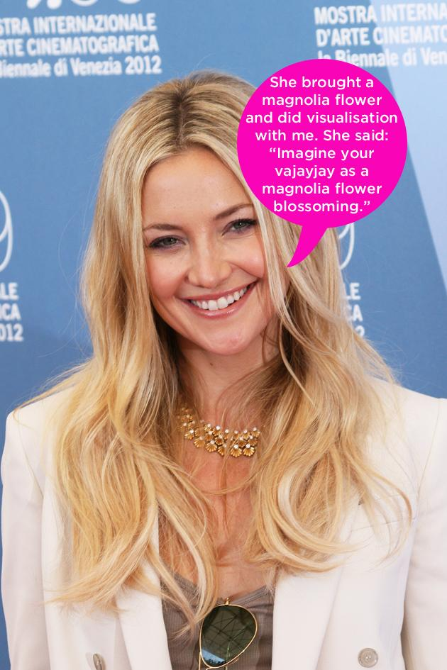 "Celebrity quotes: Kate Hudson revealed this week that during her 18 hour long labour with second baby Bingham, her whole family got involved – including her mother, Goldie Hawn, with some interesting techniques. The actress said: """"She brings a magnolia flower. She brings this large magnolia. And she starts to do these visualisations with me. She's going, 'Imagine your va-jay-jay as a large magnolia flower blossoming."""