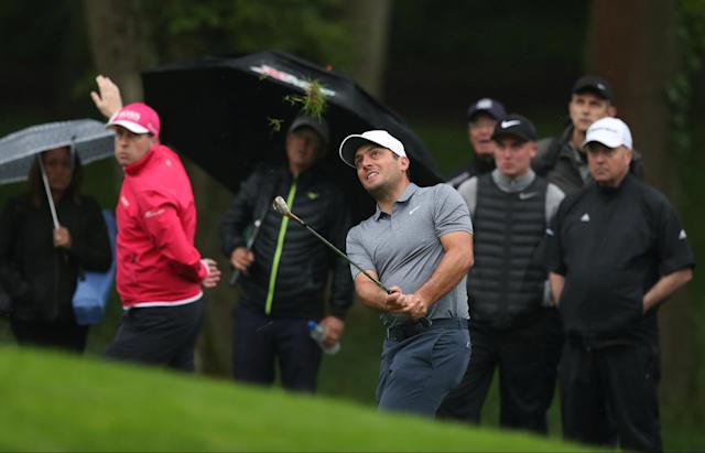 Golf - European Tour - BMW PGA Championship - Wentworth Club, Virginia Water, Britain - May 24, 2018 Italy's Francesco Molinari plays a shot on the first hole during the first round Action Images via Reuters/Peter Cziborra