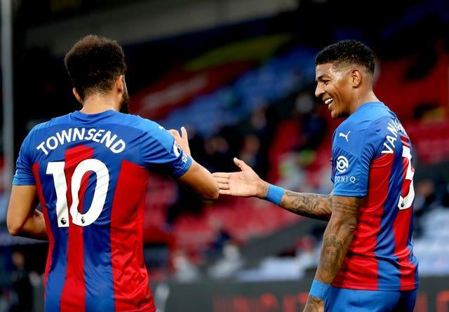 Patrick van Aanholt (right) and Andros Townsend are among those out of contract
