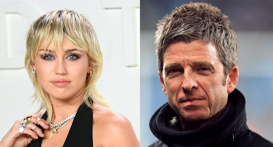 Noel Gallagher criticised Miley Cyrus' VMAs performance. (Photo by Mike Coppola/FilmMagic. Mike Egerton/PA Images via Getty Images)
