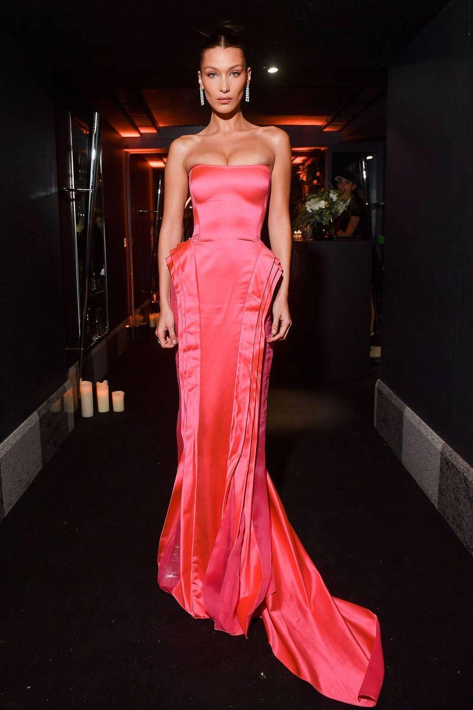 <p>The model wore vintage Jean Paul Gaultier to the event, September 2018.</p>