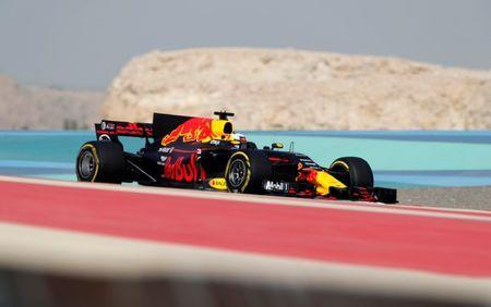 Formula One - F1 - Bahrain Grand Prix - Sakhir, Bahrain - 15/04/17 - Redbull Formula One driver Daniel Ricciardo of Australia drives during the third practice session. REUTERS/Hamad I Mohammed