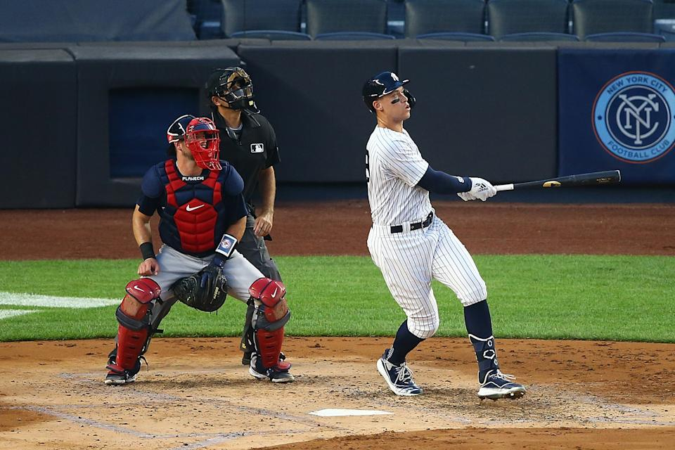 Aaron Judge and the Yankees swept the Red Sox over the weekend. (Photo by Mike Stobe/Getty Images)