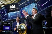 Tomer Weingarten, CEO of SentinelOne, a cybersecurity firm, rings a ceremonial bell during his company's IPO at the NYSE in New York