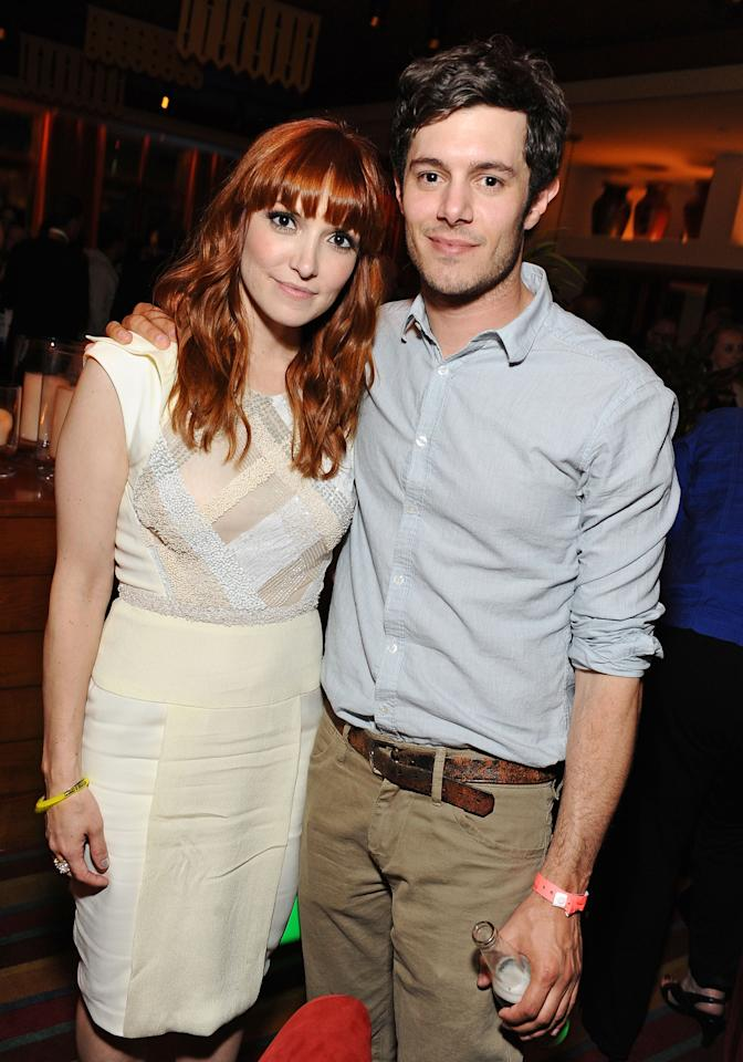 "LOS ANGELES, CA - JUNE 18:  Writer/Director Lorene Scafaria and Adam Brody attend the premiere after party of ""Seeking a Friend for the End of the World"" at the 2012 Los Angeles Film Festival held at Regal Cinemas L.A. Live on June 18, 2012 in Los Angeles, California.  (Photo by Angela Weiss/Getty Images)"