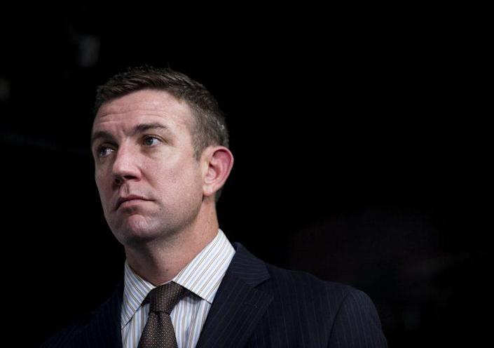 Rep. Duncan Hunter, R-Calif., participates in the news conference with the Republican members of the California congressional delegation to discuss California water legislation in the Capitol on Friday, Dec. 11, 2015. (Photo: Bill Clark/CQ Roll Call/Getty Images)