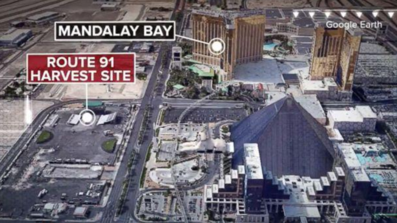 New aerial photos show aftermath of Las Vegas shooting scene