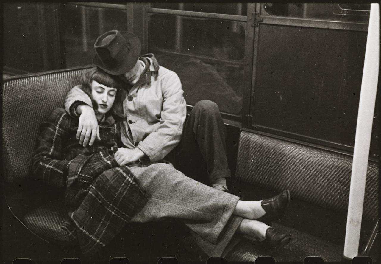 Stanley Kubrick. Life and Love on the New York City Subway. 1947. Museum of the City of New York. The <em>Look</em> Collection. © Museum of the City of New York and SK Film Archives.