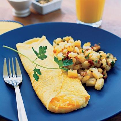 """<p>Take your breakfast or brunch to new heights with this easy <a href=""""https://www.myrecipes.com/t/breakfast-and-brunch/eggs/omelets/"""" rel=""""nofollow noopener"""" target=""""_blank"""" data-ylk=""""slk:omelet recipe"""" class=""""link rapid-noclick-resp"""">omelet recipe</a>.</p>"""