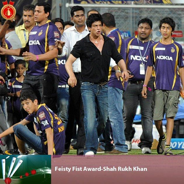 Bollywood hero and Kolkata Knight Riders owner Shah Rukh Khan has been invited by the SMURF (Show me your right fist) foundation that works towards making half-sleeve shirts compulsory for all cricket teams and their owners. The aim of the organisation is to promote the exercise of the radius and ulna, which are always the bones of contention in every human expression ranging from protest to happiness. The whistle blower who is missing from the picture has been asked to provide the vote of thanks, which involves invoking his seeti moment of success.