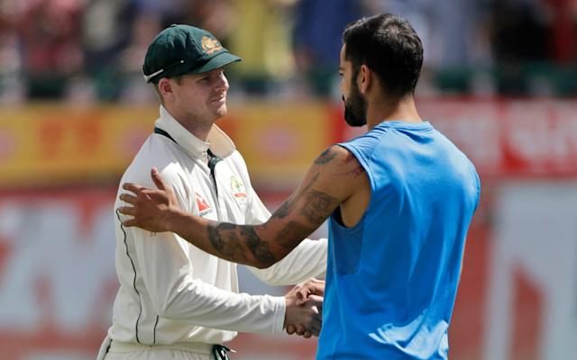 Kohli and Steve Smith appeared on friendly terms following the third Test - AP
