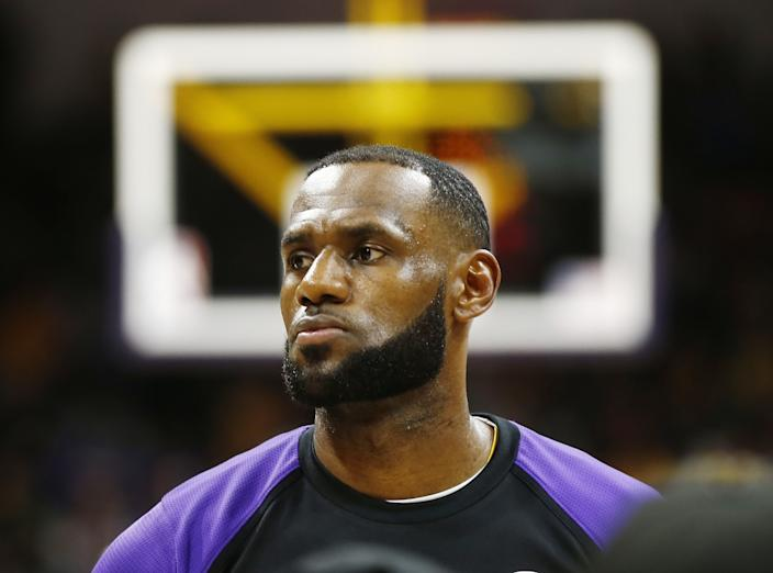"""The Lakers' LeBron James and other athletes recently formed an organization that aims to help the Black community fight voter suppression. <span class=""""copyright"""">(K.C. Alfred / San Diego Union-Tribune)</span>"""