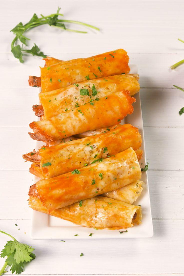 """<p>Shredded chicken wrapped in a cheesy roll-up = a keto dream come true.</p><p>Get the recipe from <a href=""""https://www.delish.com/cooking/recipe-ideas/a21098239/keto-taquitos-recipe/"""" rel=""""nofollow noopener"""" target=""""_blank"""" data-ylk=""""slk:Delish"""" class=""""link rapid-noclick-resp"""">Delish</a>.</p>"""