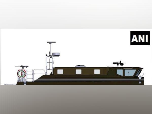 Design of the boat to be used by Army to patrol Pangong Lake in Eastern Ladakh. (Photo/ANI)
