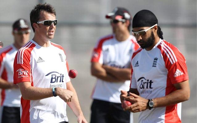<span>Ebgland have been unable to replace Graeme Swann (left) and Monty Panesar (right)</span> <span>Credit: ACTION IMAGES </span>