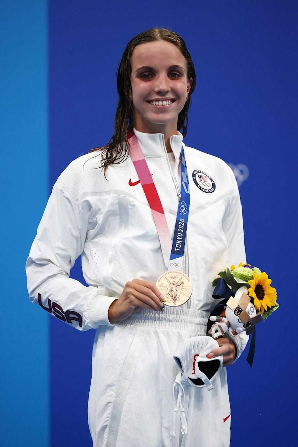 """<p>Biography: 19 years old</p> <p>Event: Women's 100m backstroke (swimming)</p> <p>Quote: """"I really went out there and gave it my all. It was a super-stacked heat, so the fact that I came away with a medal, I really can't ask for much more.''</p>"""
