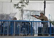 Lebanese soldiers fired rubbet bullets to disperse protesters late Thursday