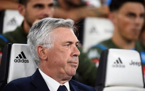 <span>Ancelotti has issued a statement condemning the state of the home dressing room</span> <span>Credit: Reuters </span>