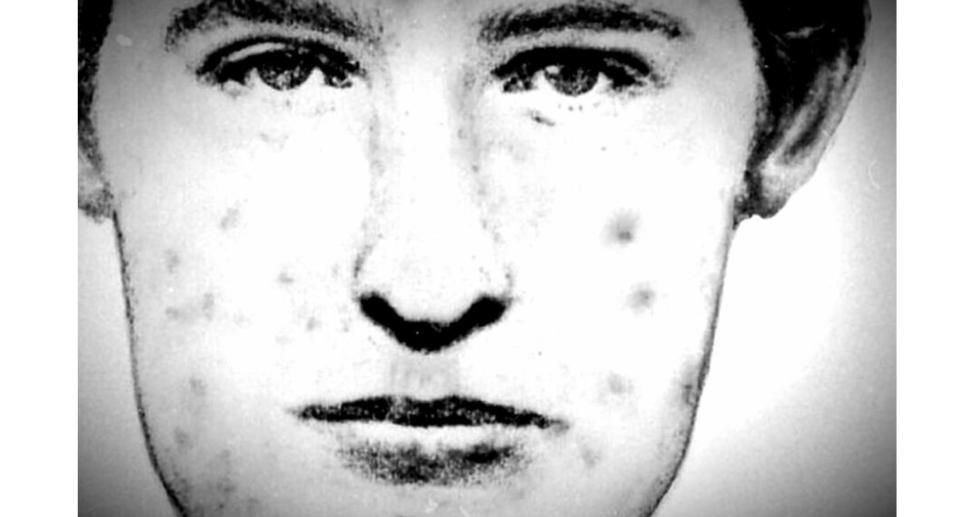 """A police sketch of French serial killer Le Grêlé, also known as the """"pockmarked man""""."""