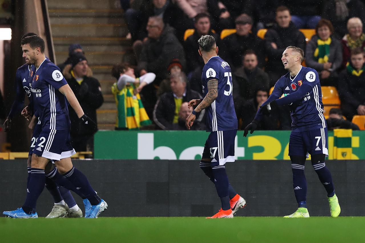 Watford move off the bottom of the Premier League with win over Norwich