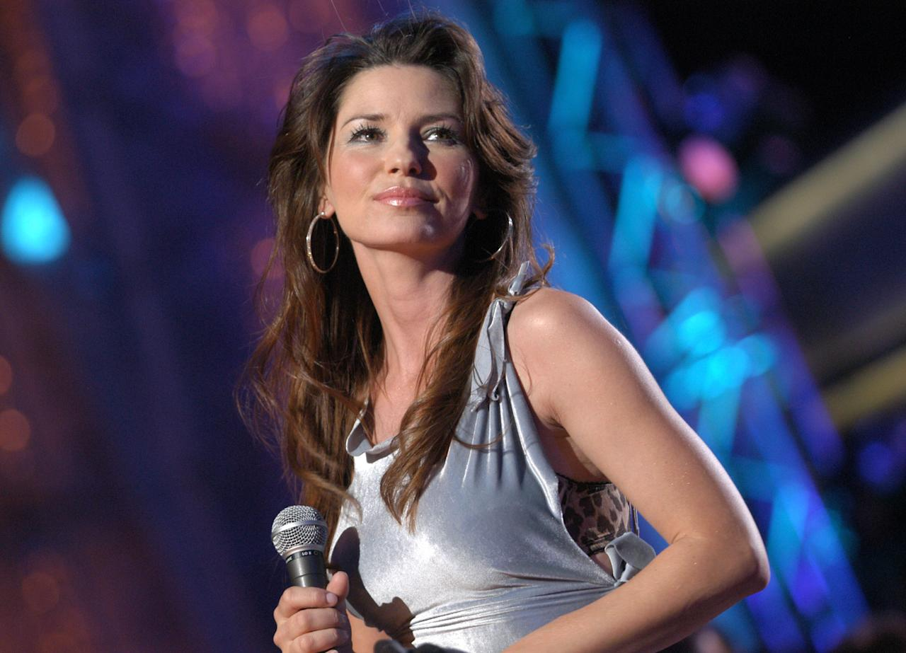 "Shania Twain Shania Twain? Not so much. The country singer was born Eilleen Regina Edwards. She changed her name to ""Shania,"" rumored to be an Ojibwe word for ""on my way."""