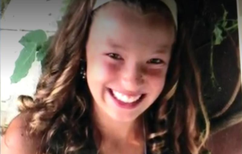 Morgan Kuiper, 11, was accidentally shot in her back garden but survived: Wood TV
