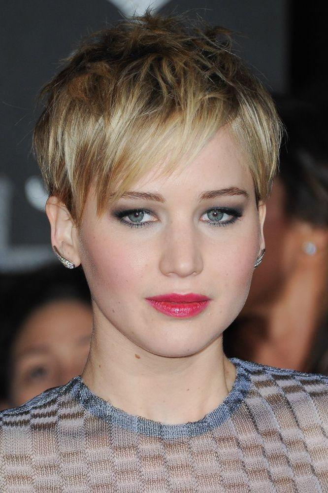 <p>The cool girl's pixie crop, keep things messy and textured a la Jennifer Lawrence for hair that looks epic everyday without doing a thing.</p>