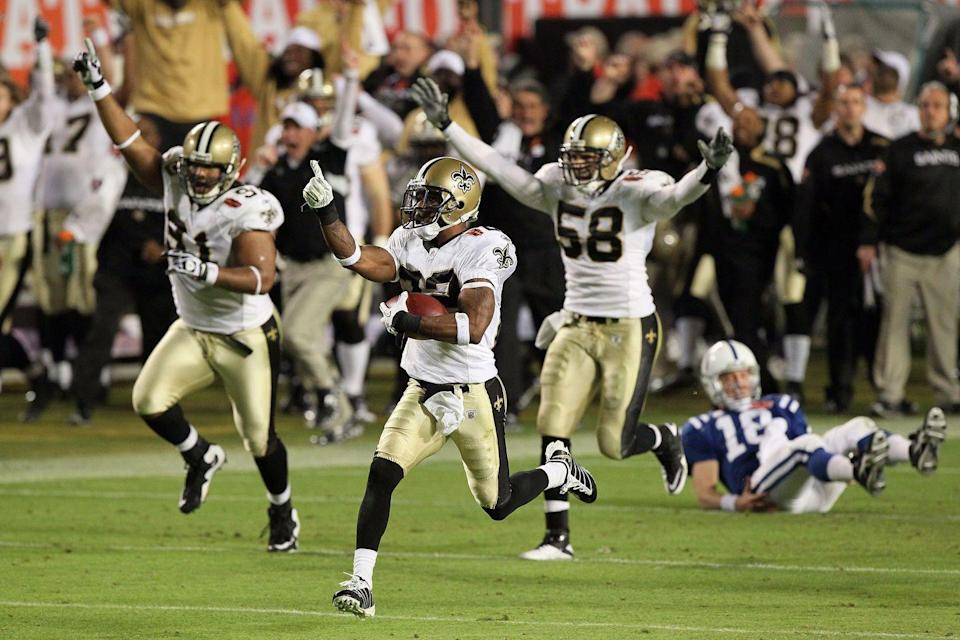 <p>The New Orleans Saints' fleur-de-lis is actually a stylized lily historically associated with the French monarchy. It's also the state symbol of Louisiana and appears on the Quebec flag. </p>