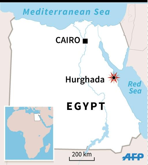 Map locating the Red Sea resort of Hurghada in Egypt (AFP Photo/Alain BOMMENEL)