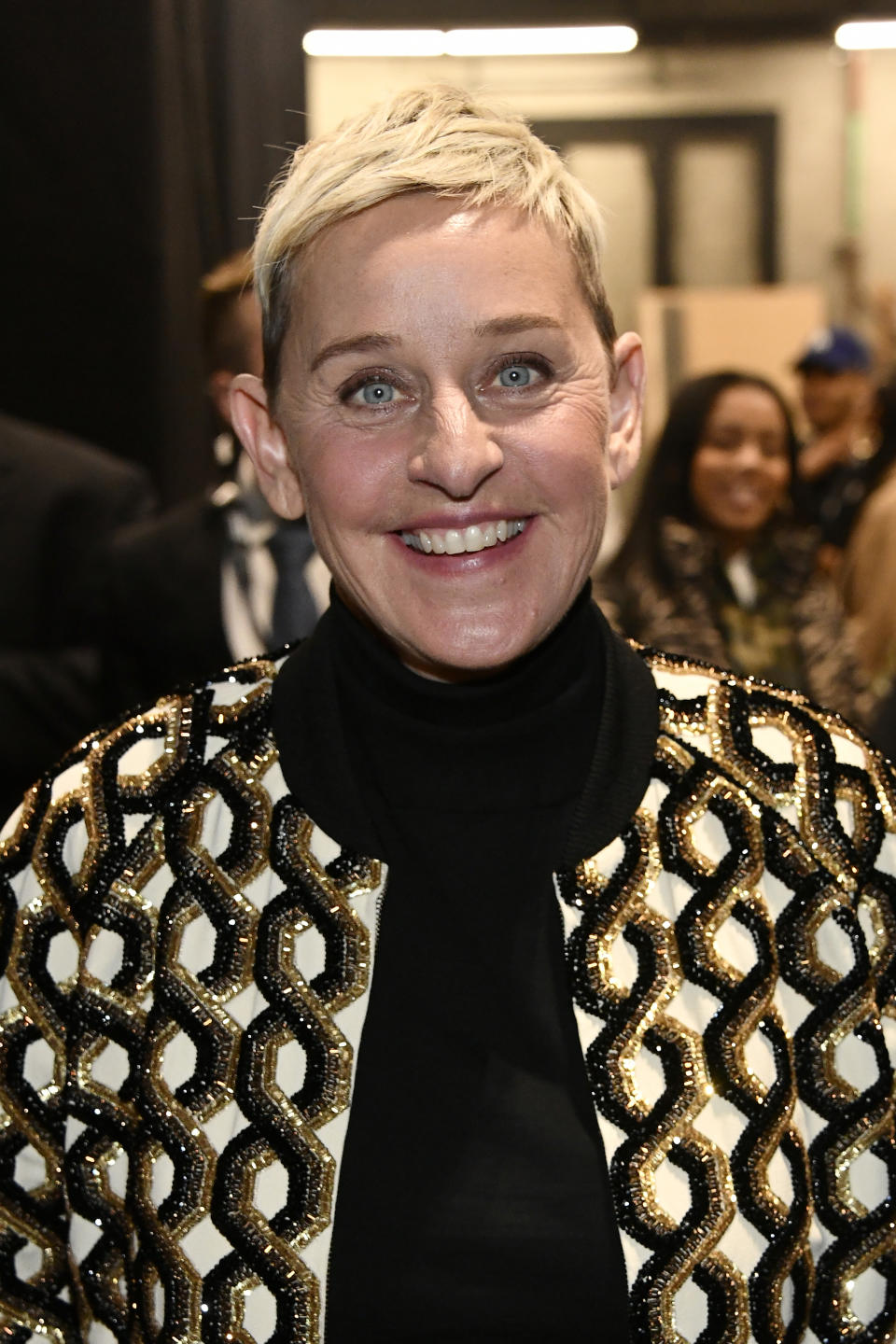 Ellen DeGeneres attends the 62nd Annual GRAMMY Awards at STAPLES Center on January 26, 2020 in Los Angeles, California. (Photo by Frazer Harrison/Getty Images for The Recording Academy)