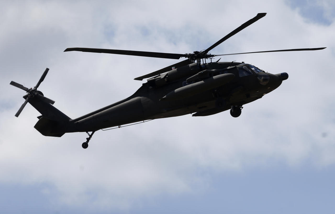 A sailor has died after he was struck by a helicopter blade at the Camp Pendleton Marine Corps base, north of San Diego.