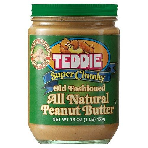 Teddie Super Chunky Old Fashioned All Natural Peanut Butter, 16 oz