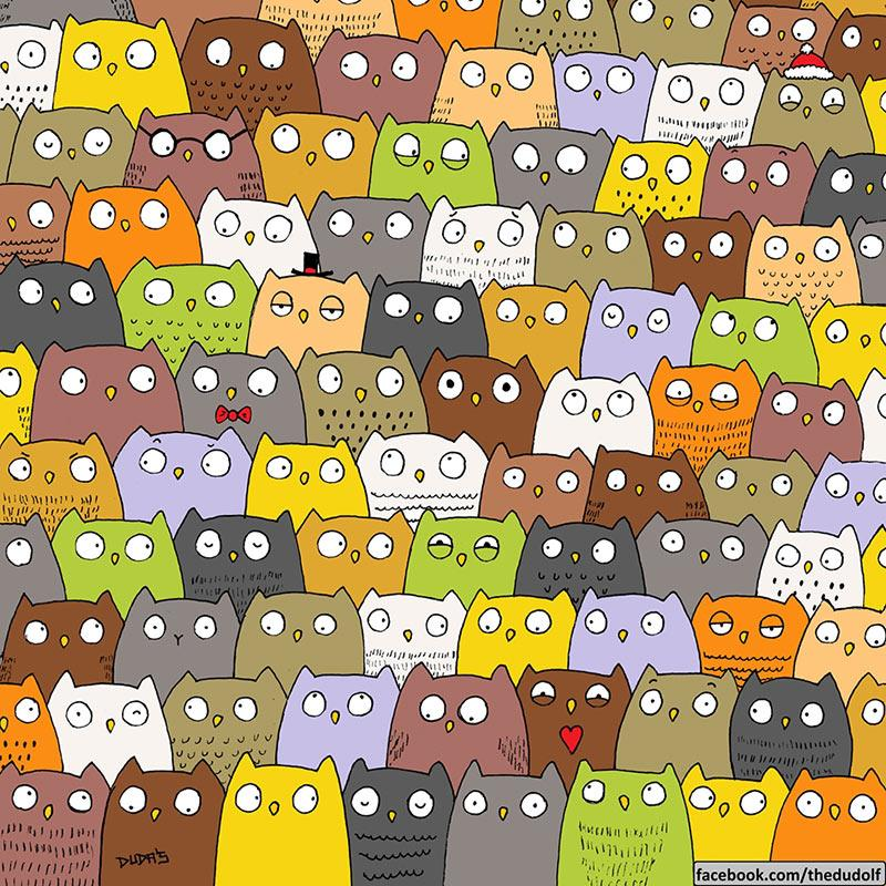 forget the panda and snowmen can you find the cat hidden among the