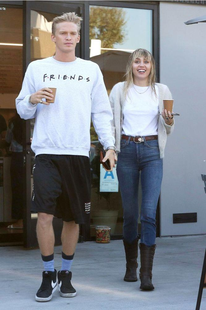 Cody Simpson and Miley Cyrus in L.A. on Oct. 13. | MEGA