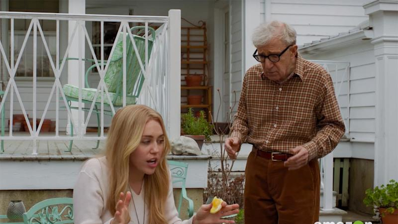 Woody Allen and Miley Cyrus talk drugs in first 'Crisis in Six Scenes' trailer