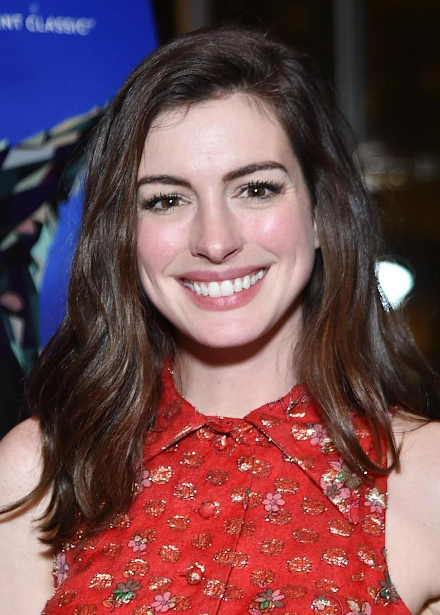 Hathaway, pictured in 2017, is sounding off on the criticism she receives. (Photo: Mike Coppola/Getty Images)