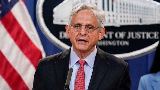 PHOTO: Attorney General Merrick Garland announces a lawsuit to block the enforcement of new Texas law that bans most abortions at the Justice Department in Washington, D.C., Sept. 9, 2021. (J. Scott Applewhite/AP)