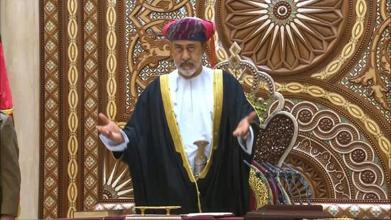 Oman's new ruler Sultan Haitham bin Tariq is sworn in after the death of his cousin