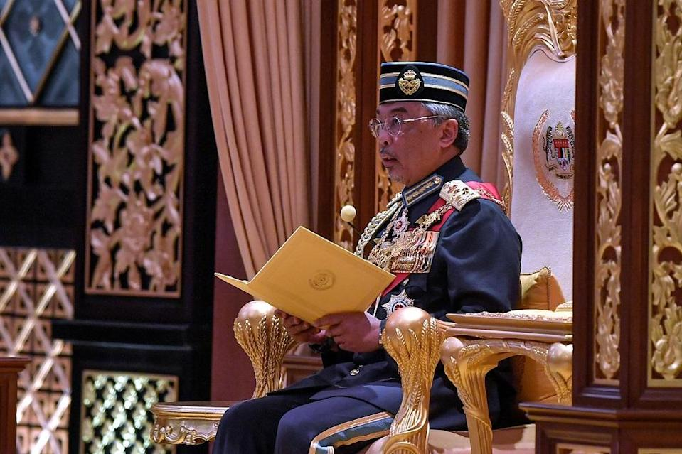 Yang di-Pertuan Agong Al-Sultan Abdullah Ri'ayatuddin Al-Mustafa Billah Shah will soon hold the consultation with other rulers to discuss recommendations presented by Prime Minister Tan Sri Muhyiddin Yassin. — Bernama pic