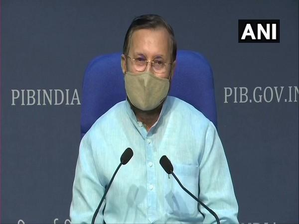 Union Minister Prakash Javadekar addressing a press conference in New Delhi on Thursday. Photo/ANI