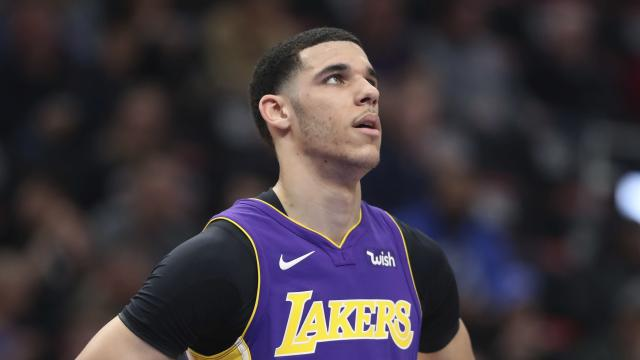 Lonzo Ball had an up-and-down rookie year, but the Spurs don't seem interested in him. (AP Photo)