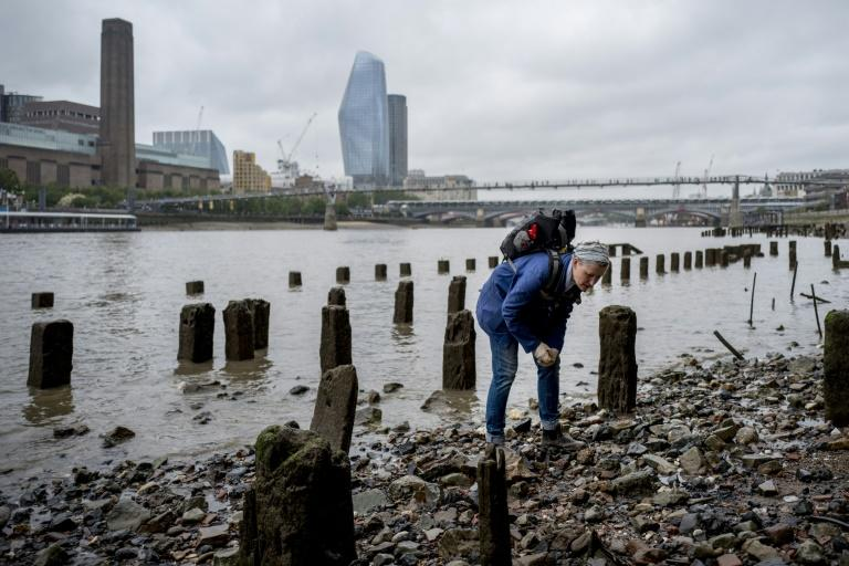 'Mudlarks' like Lara Maiklem scour the shores of the River Thames in London for historical items